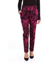 N°21 N Ã'â° 21 Two-tone Regular Patterned Trousers - Black
