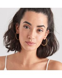 Ania Haie Spike Hoop Earrings - Metallic