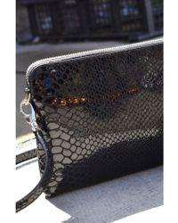 Just Female - Madison Black Snake Bag - Lyst