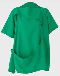 132 5. Issey Miyake Enfold Top - Parakeet - Green