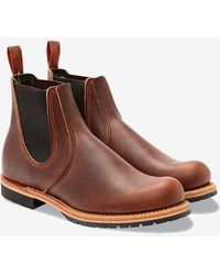Red Wing Chelsea Rancher Boots Brown