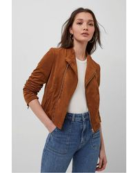 French Connection Calira Suede Jacket - Brown
