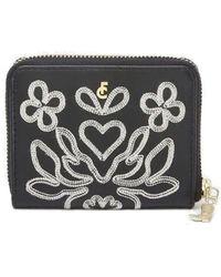 FABIENNE CHAPOT Mimi Leather Wallet - Black & Cream White
