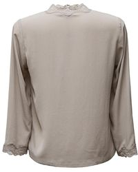 Max & Moi - Taupe Silk Shirt - Lyst
