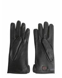 Trussardi Gloves In Printed Nappa - Gray