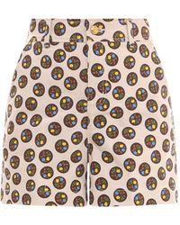 Tory Burch Cotton Shorts - Multicolour