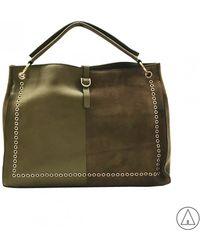Mia Bag - • Printed Tote Bag In Green - Lyst