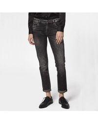Denham Monroe Girlfriend Tapered Fit Jeans - Gray