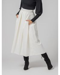 Department 5 Skirt With Folds - White