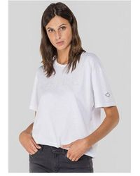Replay Holographic Tee Colour: White