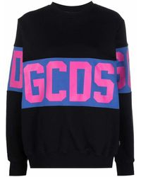 Gcds Box Logo-print Cotton Sweatshirt - Black