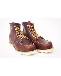 Red Wing Dark Brown 6 Classic Mock Toe 8138 Boot