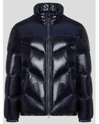 Woolrich Logo Arctic Jacket Melton Blue