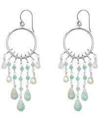 Coco & Kinney Catalina Silver Earrings - Blue