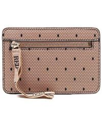 RED Valentino Women's Vq2p0b23bksn17 Pink Other Materials Pouch