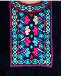 Christophe Sauvat - Velvet Embellished Top In Blue - Lyst