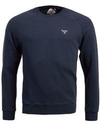 Barbour Crew Sweatshirt Navy - Blue