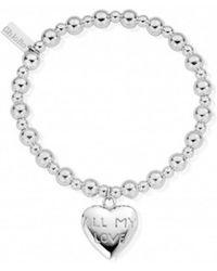 ChloBo - Mini Small Ball Bracelet With All My Love Charm - Lyst