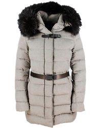 Moorer Coats Dove - Grey