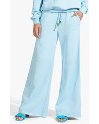 STAUD The Wide Leg Sweatpants In French - Blue