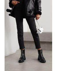 Rag & Bone Shiloh Leather Zip Boot - Black