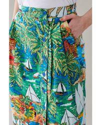 Emily and Fin - Sofia San Jose Print Button Through Skirt - Lyst