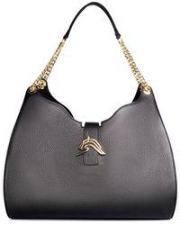 Thale Blanc Empire Cheetah Hobo Bag: Designer Shoulder Bag In Black Leather