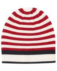 Madeleine Thompson - Crait Hat In Red/cream/black - Lyst