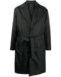 Hevò - Hevò Men's Ostuniat7152517 Black Polyester Trench Coat - Lyst