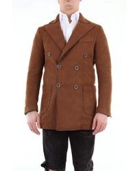 26.7 Twentysixseven Twentysixseven Solid Colour Double Breasted Coat - Brown