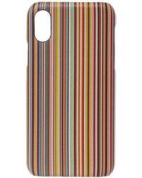Paul Smith Iphone X Case Signature Stripe - Multicolour