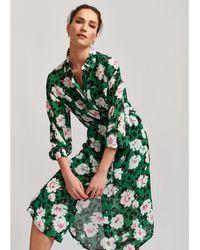 Essentiel Antwerp Voho Floral Printed Dress - Green