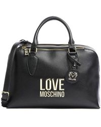 Love Moschino Women's Jc4110pp1clj000a Black Leather Handbag