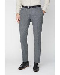 Gibson London Tweed Suit Trousers - Grey