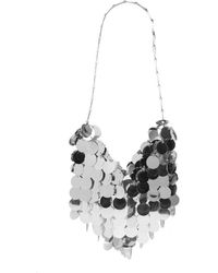 Paco Rabanne - Sparkle Hobo With Silver Sequins - Lyst