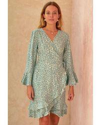 Aspiga Mimi Wrap Dress -khaki , Title:khaki - Green