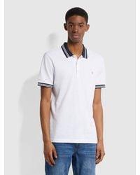 Farah Stanton Slim Fit Tipped Organic Cotton Polo Shirt - White