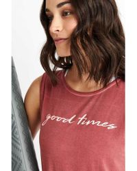Good Hyouman The Sassy Tie Back Tank - Red