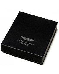 Hackett - Tessellated Leather Card Holder - Lyst