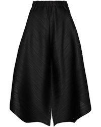 Pleats Please Issey Miyake - Pleats Please Issey Miyake Women's Pp08jf78315 Black Polyester Pants - Lyst