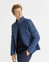 Ecoalf Beret Quilted Jacket - Navy - Blue