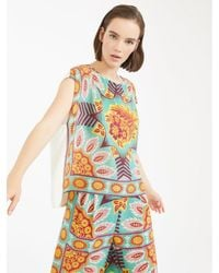 Weekend by Maxmara Outlet Weekend By Maxmara Papilla Print Front Top - Multicolor