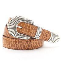 Andersons Andersons Mock Croc Leather Belt - Light Tan - Brown