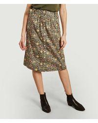 La Petite Francaise Jabot Skirt Plume Noir - Pink