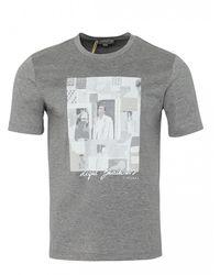 Canali Crew Tee Print T-shirt (grey)