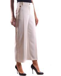 Pinko - Women's Hulkz12 White Polyester Pants - Lyst