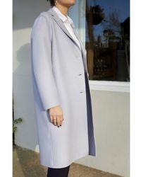 Harris Wharf London Wool Sing-breasted Overcoat - Gray