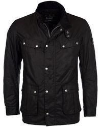 Barbour Duke Waxed Jacket - Black