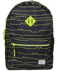 Atterley Herschel Backpack Black And Green Heritage Youth X Large