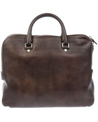 Orciani Leather Briefcase - Brown
